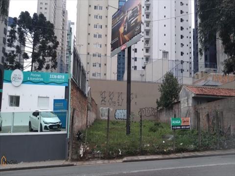 Terreno para locacao no Bigorrilho em Curitiba com 465m² por R$ 2.500,00