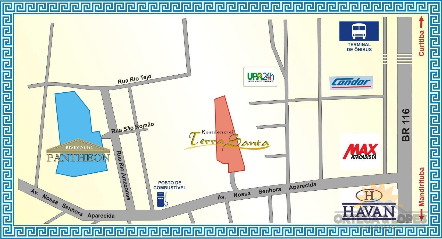 Terreno para venda no Santa Terezinha em Fazenda Rio Grande com 128m² por R$ 135000